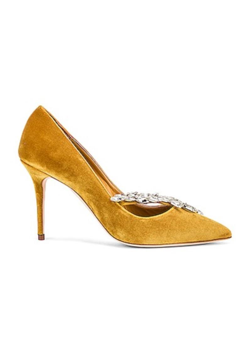 Manolo Blahnik Nadira 90 Velvet Heel