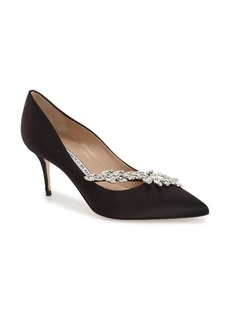 Manolo Blahnik' Nadira' Crystal Embellished Pointy Toe Pump (Women)