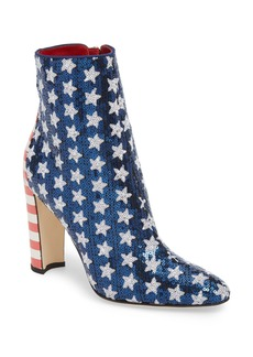 Manolo Blahnik Nancy Americana Sequin Bootie (Women)