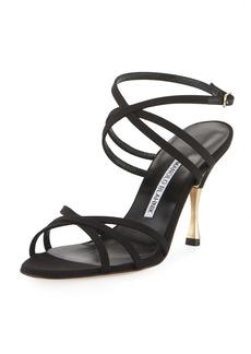 Manolo Blahnik Naro Strappy Satin Sandal
