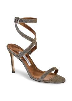 Manolo Blahnik Newfi Ankle Strap Sandal (Women)