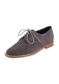 Manolo Blahnik Paferi Perforated Suede Oxford