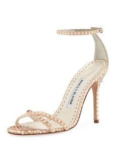 Manolo Blahnik Paloma Snakeskin Sandals