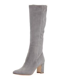 Manolo Blahnik Pampita Suede Knee Boot