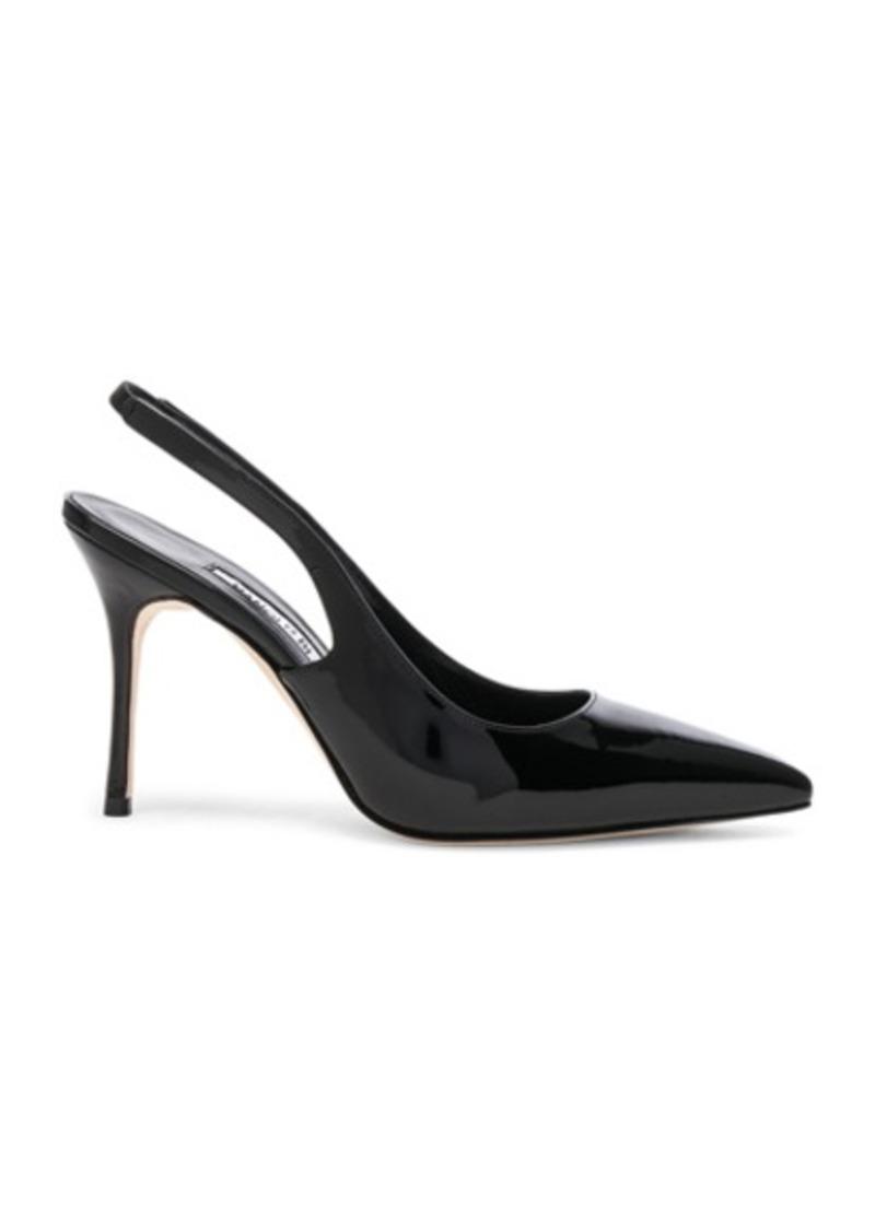 Manolo Blahnik Patent Leather Allura 90 Sandals