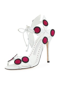 Manolo Blahnik Pinwheel Colorblock Leather Sandal