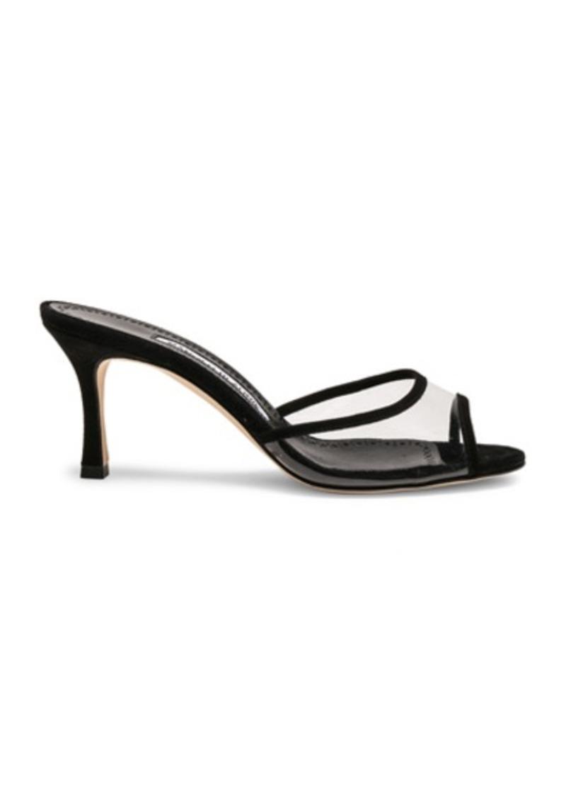 Manolo Blahnik PVC Sissavy Sandals