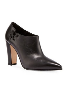 Manolo Blahnik Samos Side Lace-Up Ankle Booties