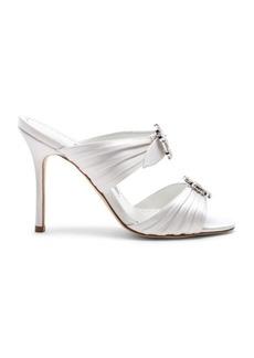 Manolo Blahnik Satin Pow 105 Sandals