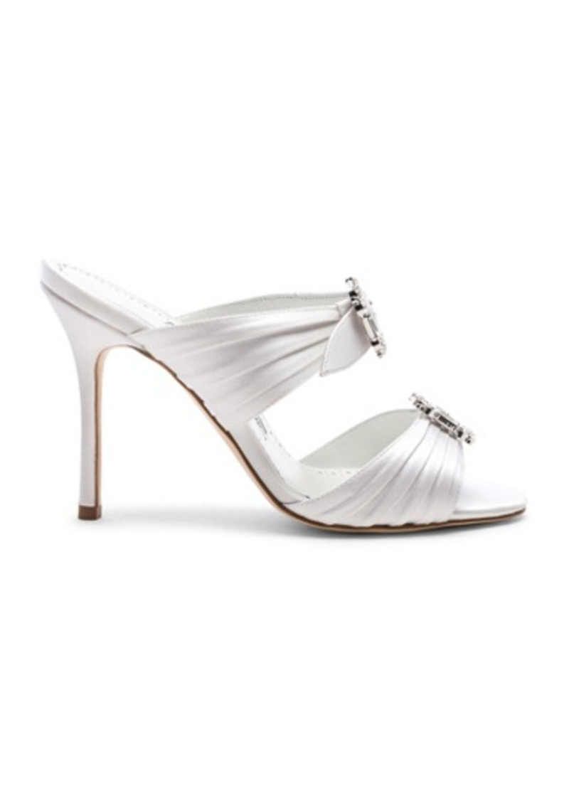 Manolo Blahnik Satin Pow 105 Sandals