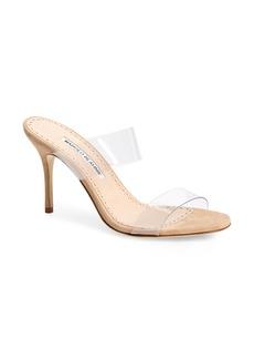 Manolo Blahnik Scolto Transparent Strap Sandal (Women)