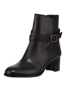 Manolo Blahnik Sulga Leather Ankle Boots
