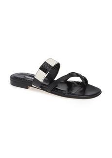 Manolo Blahnik Susa Genuine Snakeskin Sandal (Women)