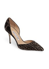 Manolo Blahnik Taylerbibo Genuine Calf Hair dOrsay Pump (Women)