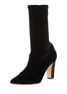 Manolo Blahnik Todi Stretch-Velvet 90mm Boot