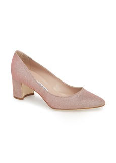 Manolo Blahnik Tucciosam Metallic Pump (Women)