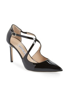 Manolo Blahnik Umice Pointy Toe Pump (Women)