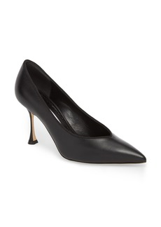 Manolo Blahnik Urgenzapla Pointy Toe Pump (Women)