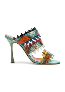 Manolo Blahnik Watersnake Arpege Sandals