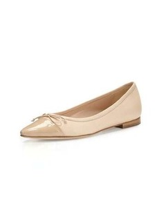 Manolo Blahnik Wendy Pointed-Toe Ballerina Flat