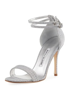 Manolo Blahnik Willis Metallic Sandal