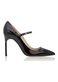 Manolo Blahnik Women's Brifa Mary-Jane Pumps-BLACK Size 10.5