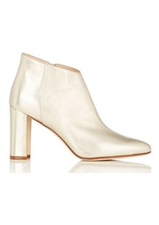 Manolo Blahnik Women's Brusta Metallic Leather Ankle Boots