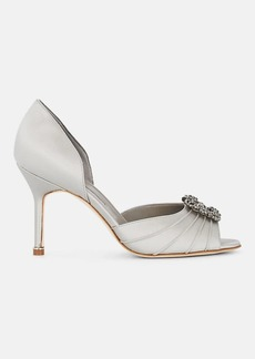 Manolo Blahnik Women's Cassiado Hangisi Satin D'Orsay Pumps