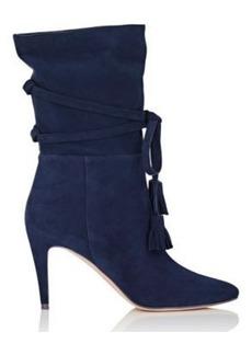 Manolo Blahnik Women's Cavamod Suede Ankle Boots
