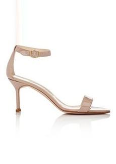 Manolo Blahnik Women's Chaos Ankle-Strap Sandals-Beige, Nude Size 8.5