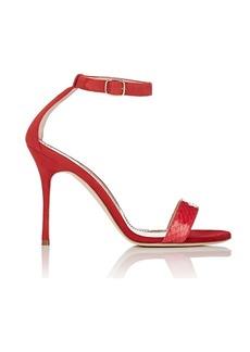 Manolo Blahnik Women's Chaosbic Suede & Snakeskin Sandals