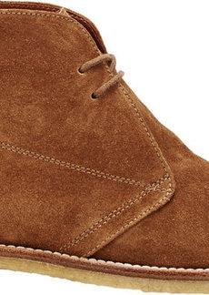 Manolo Blahnik Women's Clarett Desert Boots-BROWN Size 6.5