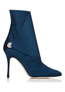 Manolo Blahnik Women's Diazhigri Satin Ankle Boots