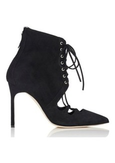 Manolo Blahnik Women's Graco Suede Ankle Booties