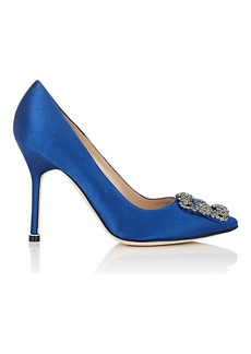 Manolo Blahnik Women's Hangisi Satin Pumps
