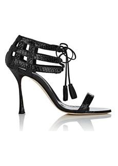 Manolo Blahnik Women's Irisny Snakeskin Sandals