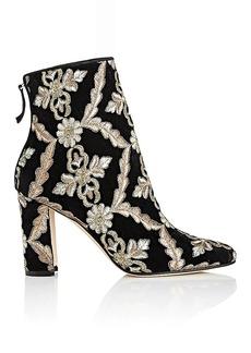 Manolo Blahnik Women's Isola Velvet Brocade Ankle Boots