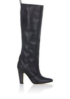 Manolo Blahnik Women's Kokana Knee Boots-BLACK Size 9.5