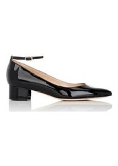 Manolo Blahnik Women's Listonystrap Ankle-Strap Pumps-BLACK Size 9.5