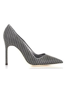 Manolo Blahnik Women's Metal BB-GREY Size 11