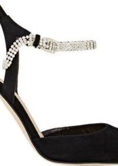 Manolo Blahnik Women's Ministra Ankle-Strap Pumps-Black Size 11