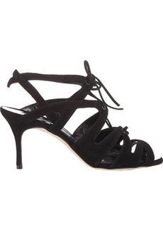 Manolo Blahnik Women's Netochka Caged Sandals-BLACK Size 10
