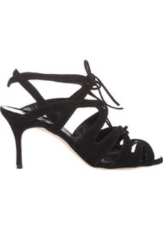 Manolo Blahnik Women's Netochka Caged Sandals-BLACK Size 7