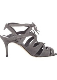 Manolo Blahnik Women's Netochka Caged Sandals-Grey Size 10.5