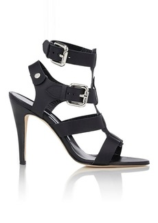 Manolo Blahnik Women's Oceailono Double-Buckle Sandals-BLACK Size 6