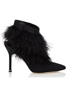 Manolo Blahnik Women's Oterala Satin Ankle Boots