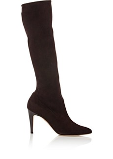 Manolo Blahnik Women's Pascalare Knee Boots-BROWN, DARK BROWN Size 10
