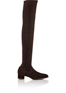 Manolo Blahnik Women's Pascalarehi Over-The-Knee Boots-DARK BROWN Size 6.5