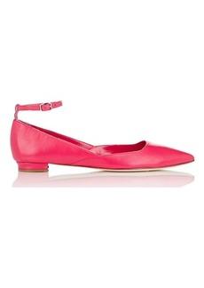 Manolo Blahnik Women's Rimany Ankle-Strap Flats-PINK Size 8
