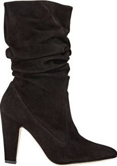 Manolo Blahnik Women's Ruched Artesina Boots-Black Size 8.5